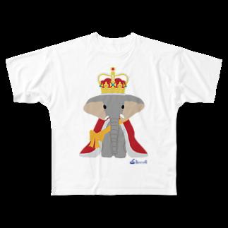 3pondSのゾウの王様 Full graphic T-shirts