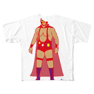 Red Rucha Full graphic T-shirts