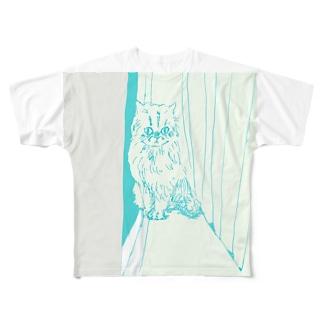 月光浴CAT フルグラフィックTシャツ