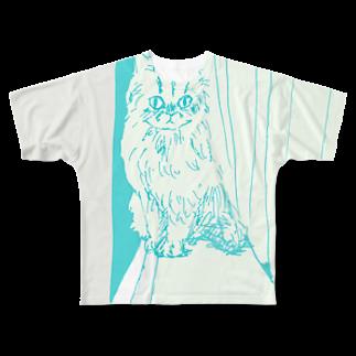 record mizukoshiの月光浴CAT Full graphic T-shirts