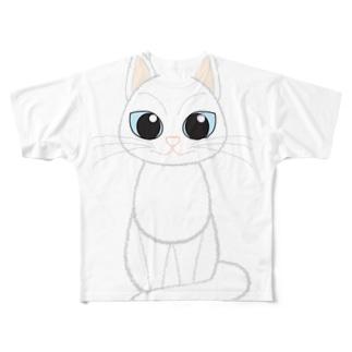 白猫 フルグラフィックTシャツ