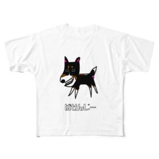 バセンジー Full graphic T-shirts