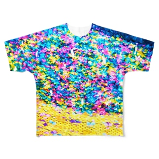 Flower Garden Yellow  Full graphic T-shirts
