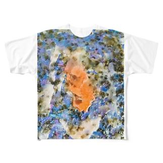 蝋で固めておいて Full graphic T-shirts
