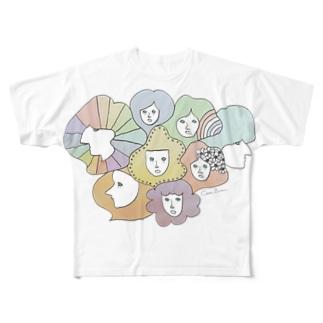 < F / A / C / E / S > フルグラフィックTシャツ