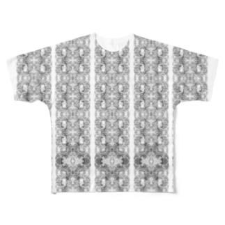 ボーダー Full graphic T-shirts