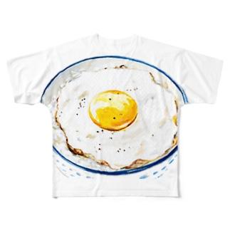 目玉焼きごはん2 フルグラフィックTシャツ