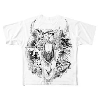 row hee フルグラフィックTシャツ