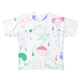 かわいい妖怪さんたち フルグラフィックTシャツ