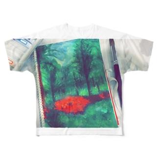森 Full graphic T-shirts