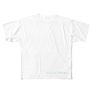 シンプルハナサンカク Full graphic T-shirts