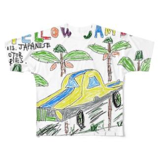 イエロー産婆 フルグラフィックTシャツ