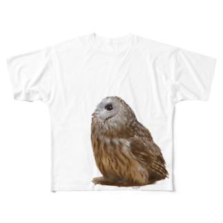 モリフクロウ Full graphic T-shirts