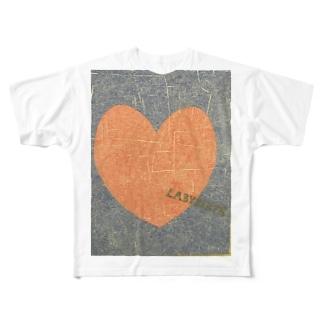 ハートラビリンス Full graphic T-shirts