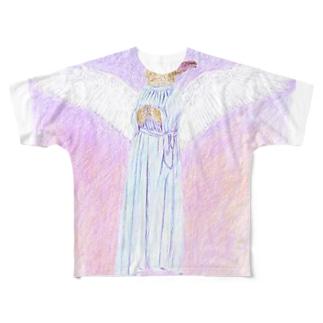天使うさぎの祈り フルグラフィックTシャツ