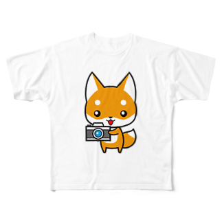 hide55のコンちゃん Full graphic T-shirts