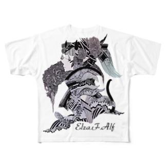 Elza.F.Alf フルグラフィックTシャツ