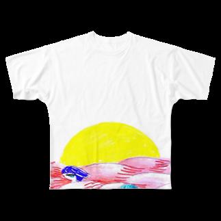 コウノあすミの日の出 Full graphic T-shirts