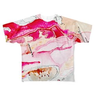 工事現場 Full graphic T-shirts