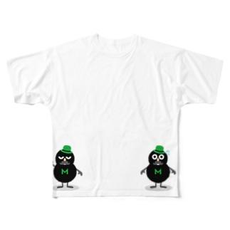 mohumohu_kuro Full graphic T-shirts