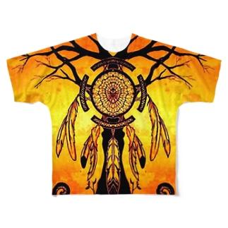 ドリームキャッチャー Full graphic T-shirts