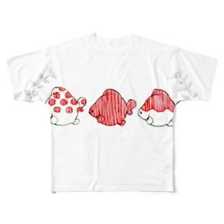 ピンポンパール Full graphic T-shirts
