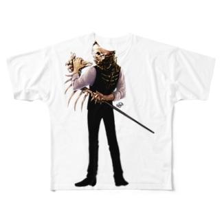 スカルヘッド フルグラフィックTシャツ