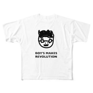 BOY'S MAKES REVOLUTION Mid Summer Ver. Full graphic T-shirts