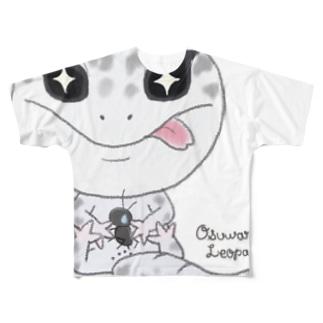 おすわりレオパ(ごましおくん) フルグラフィックTシャツ