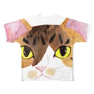 もずく秘書のフェイス Full graphic T-shirts