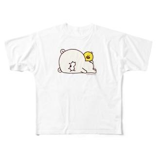 クマもっち。 フルグラフィックTシャツ