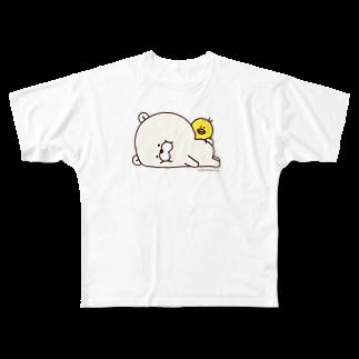 たかせ ゆづきのクマもっち。フルグラフィックTシャツ