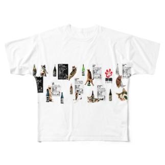 酔猫シリーズ Full graphic T-shirts
