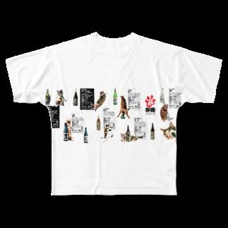 cheeの酔猫シリーズフルグラフィックTシャツ