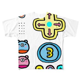 乳首は心のインターホン Full graphic T-shirts