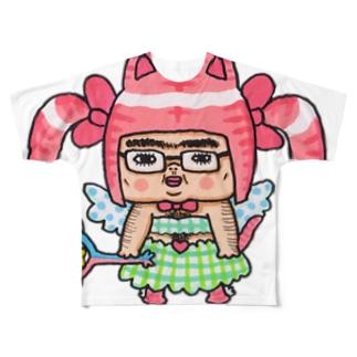 魔法少女たけし Full graphic T-shirts