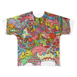 グログロのカラフル Full graphic T-shirts