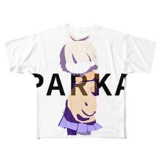 パーカー子 Full graphic T-shirts