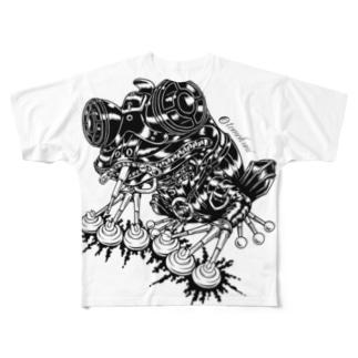 "Animalia Kinky "" Black Frog "" フルグラフィックTシャツ"