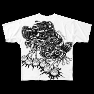 "TOMOKUNIのAnimalia Kinky "" Black Frog ""フルグラフィックTシャツ"