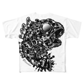 "Animalia Kinky "" Black Bass "" Full graphic T-shirts"