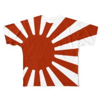 MFD 赤い太陽 Full graphic T-shirts