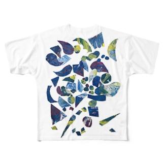 たのしい雨の日 Full graphic T-shirts