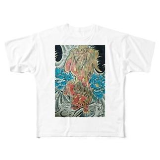 ザ唐獅子 Full graphic T-shirts