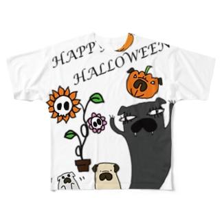 パグハロウィン! フルグラフィックTシャツ