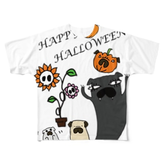 パグハロウィン! Full graphic T-shirts