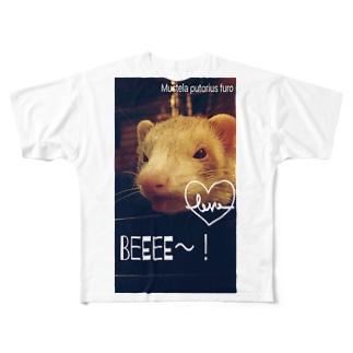 フェレットライフ Full graphic T-shirts