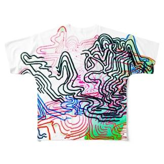 グネグネ Full graphic T-shirts