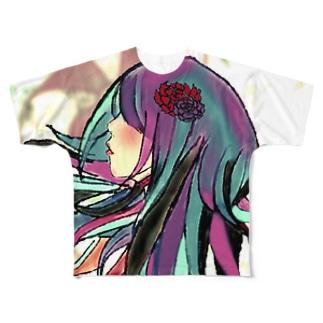 いろは歌 Full graphic T-shirts