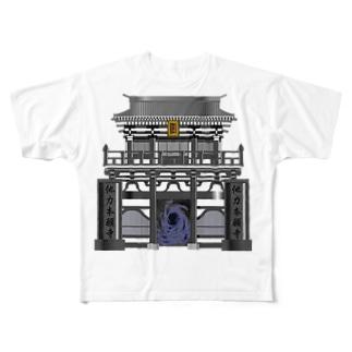 他力本願寺 Full graphic T-shirts